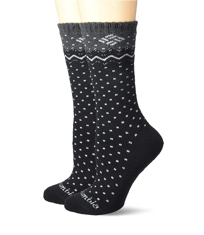 columbia-dotted-winter-socks