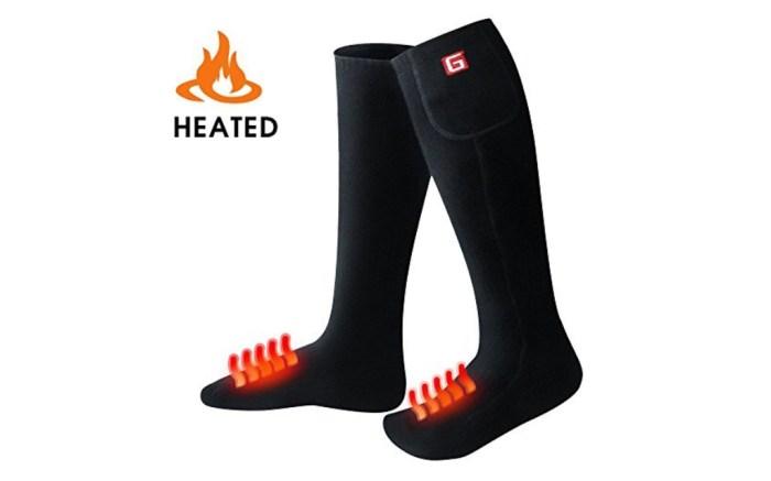 Global Vasion electric heated socks on Amazon
