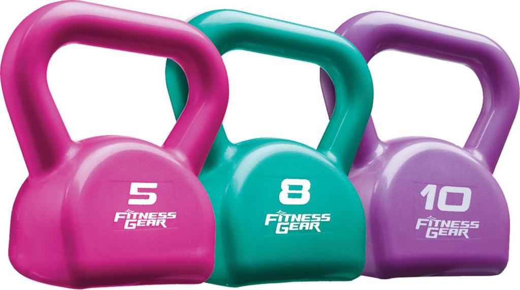 Fitness Gear 23 Pound PVC Kettlebell Set