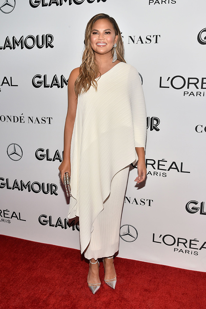 Chrissy Teigen Glamour's 28th annual Women of the Year Awards, Arrivals, New York, USA - 12 Nov 2018
