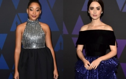 Amandla Stenberg and Lily Collins attend