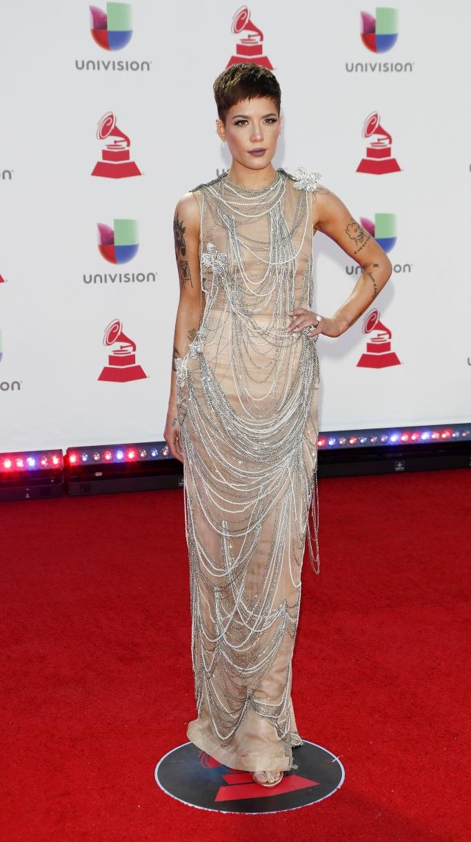 halsey, latin grammy awards, nude dress, Jean-Paul Gaultier