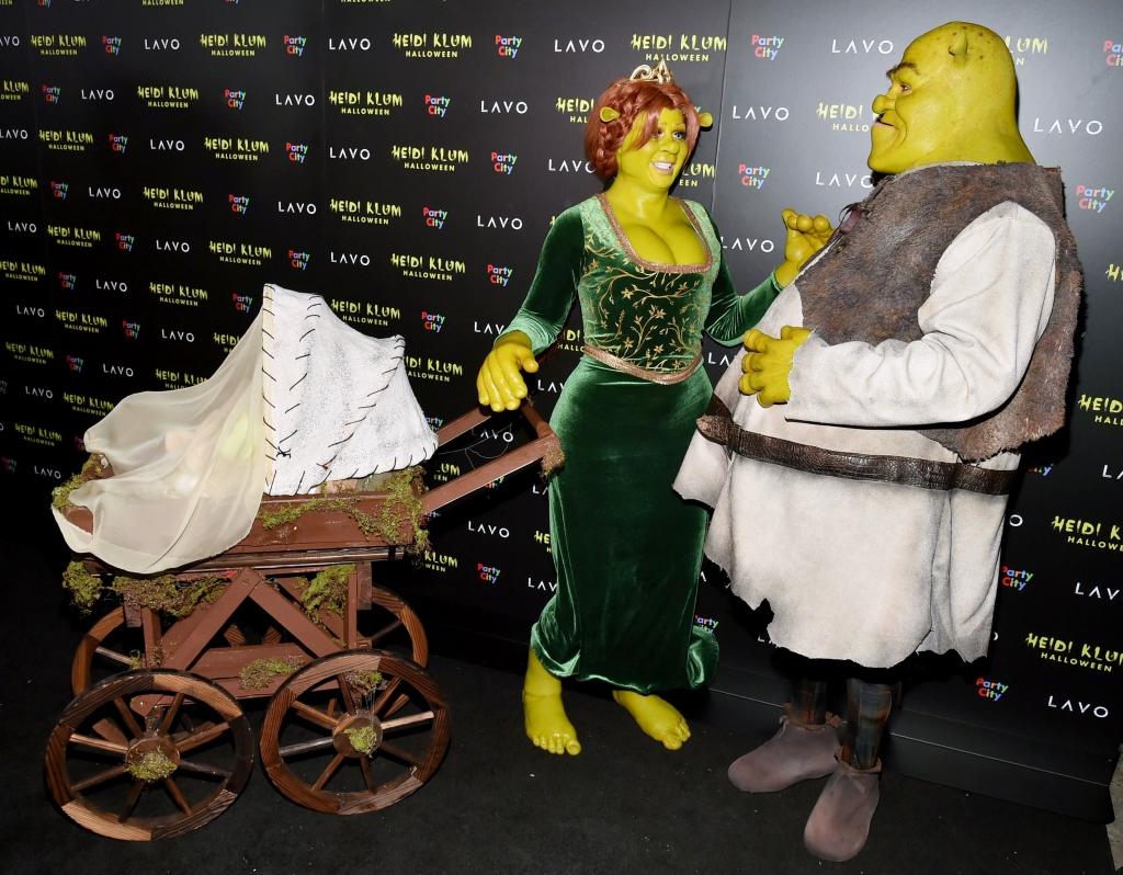 Heidi Klum's 19th Annual Halloween Party, heidi klum, tom kaulitz, shrek