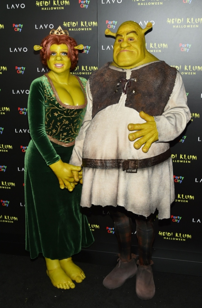 Heidi Klum and Tom Kaulitz, halloween 2018, shrek
