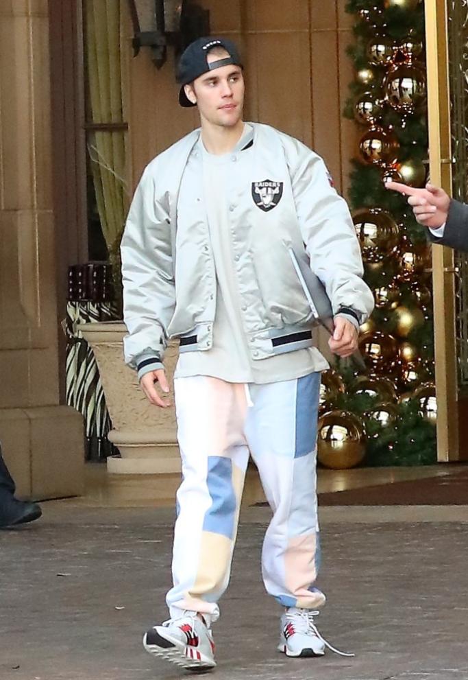 Justin Bieber wearing Adidas sneakers
