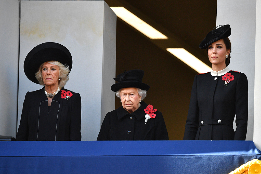 Camilla Duchess of Cornwall, Queen Elizabeth II, Catherine Duchess of CambridgeNational Service of Remembrance, London, UK - 11 Nov 2018