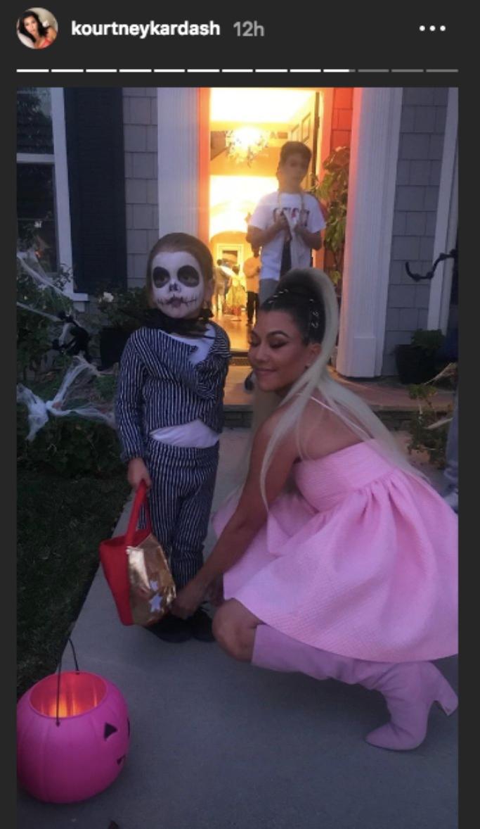 Kourtney Kardashian, reign disick, halloween, ariana grande, instagram