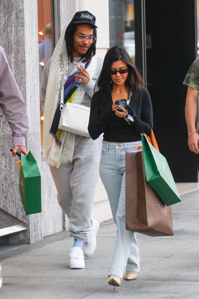 Kourtney Kardashian, Luka Sabbat, shopping, los angeles, date