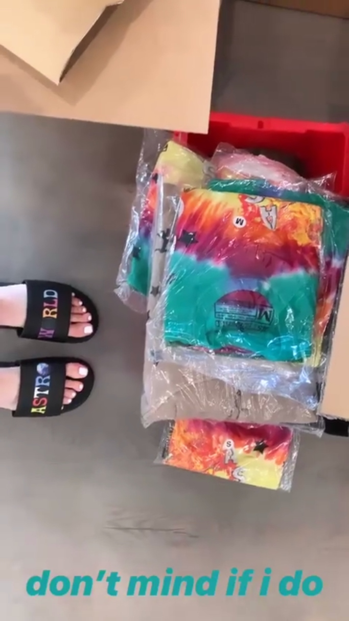 kylie jenner astroworld merch