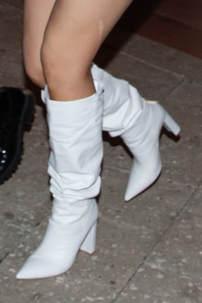 Kylie Jenner white boots