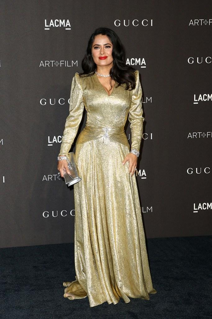 Salma Hayek,LACMA: Art and Film Gala presented by Gucci, Los Angeles, USA - 03 Nov 2018Wearing Gucci