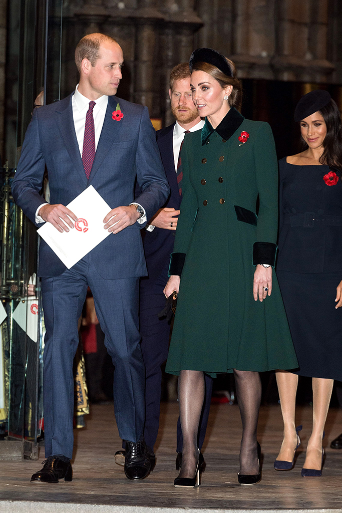 Prince William and Catherine Duchess of Cambridge, Prince Harry and Meghan Duchess of SussexNational Service to mark the Centenary of the Armistice, Westminster Abbey, London, UK - 11 Nov 2018