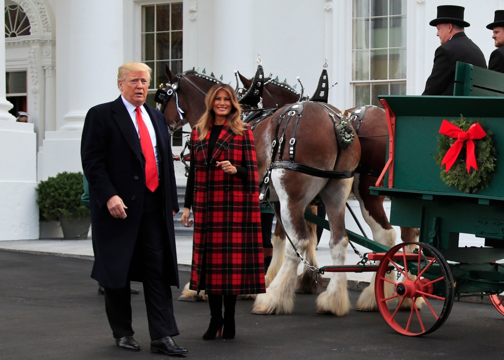 trump family christmas white house tree