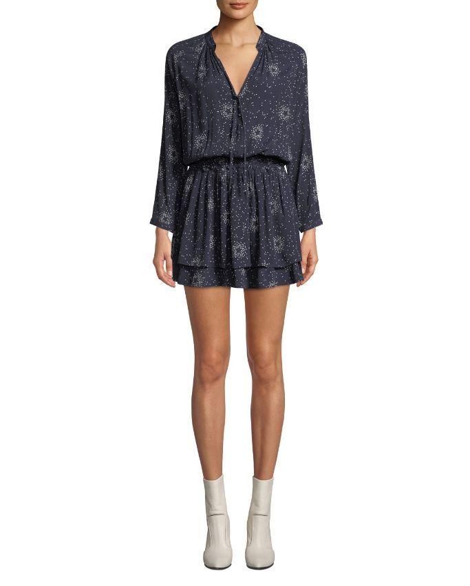 Rails Jasmine Printed Long-Sleeve Mini Dress