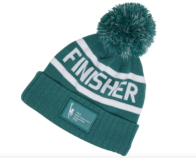 NYC Marathon Finisher Pom Beanie