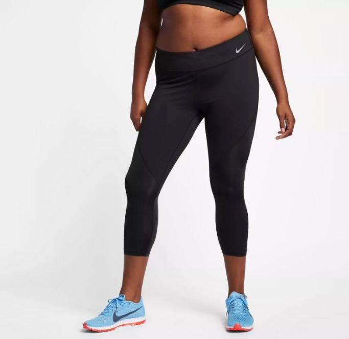 Nike Power Epic Luxe Plus Size Mid-Rise Running Crops