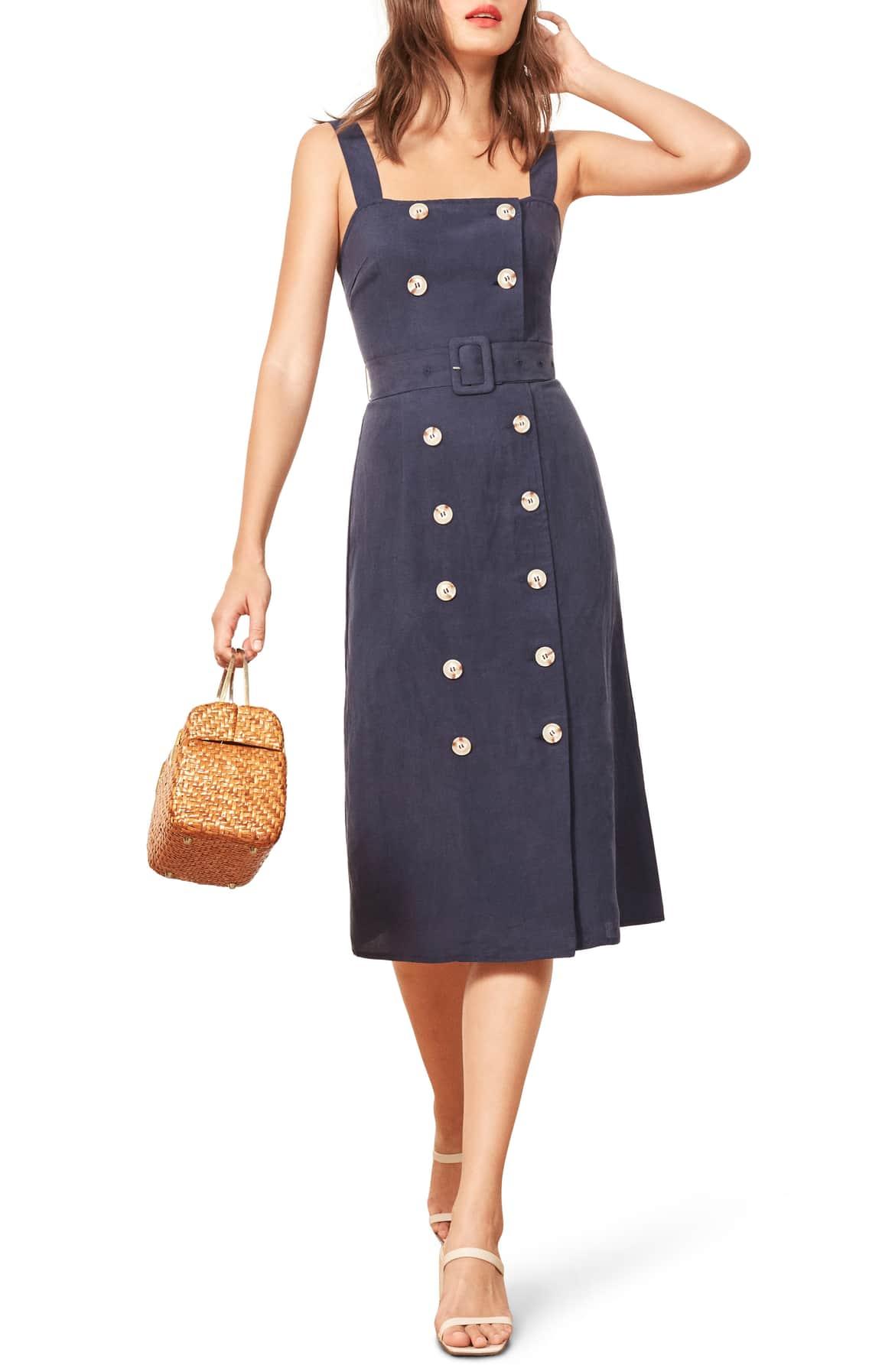 Reformation Palma Belted Dress