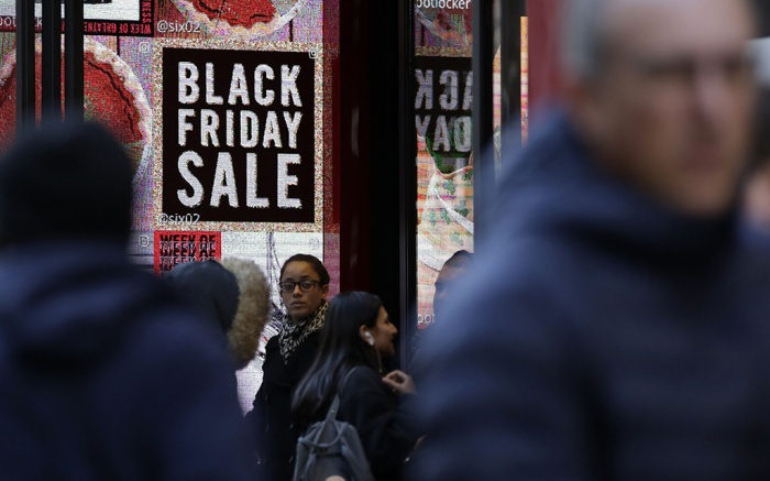 Shoppers are seen during the Black Friday sales in New York, USA, 24 November 2017. Black Friday is a huge shopping event which sees people all over the world getting discounted products as retailers slash prices. This year shoppers choose to shop online rather than traditionally queuing up through the night outside the shops before opening hours.Black Friday sales in New York, USA - 24 Nov 2017