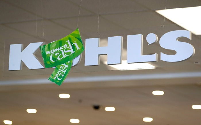 """A """"Kohl's Cash"""" sign hangs inside a Kohl's store in Concord, N.CEarns Kohls, Concord, USA - 28 Aug 2018"""