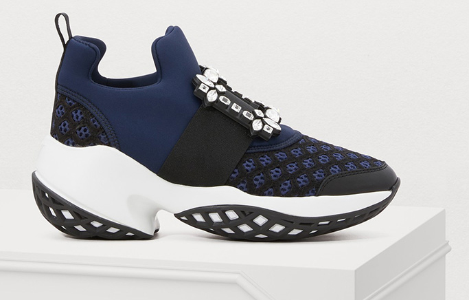 Viv 'Run Rhinestone Buckle Sneaker