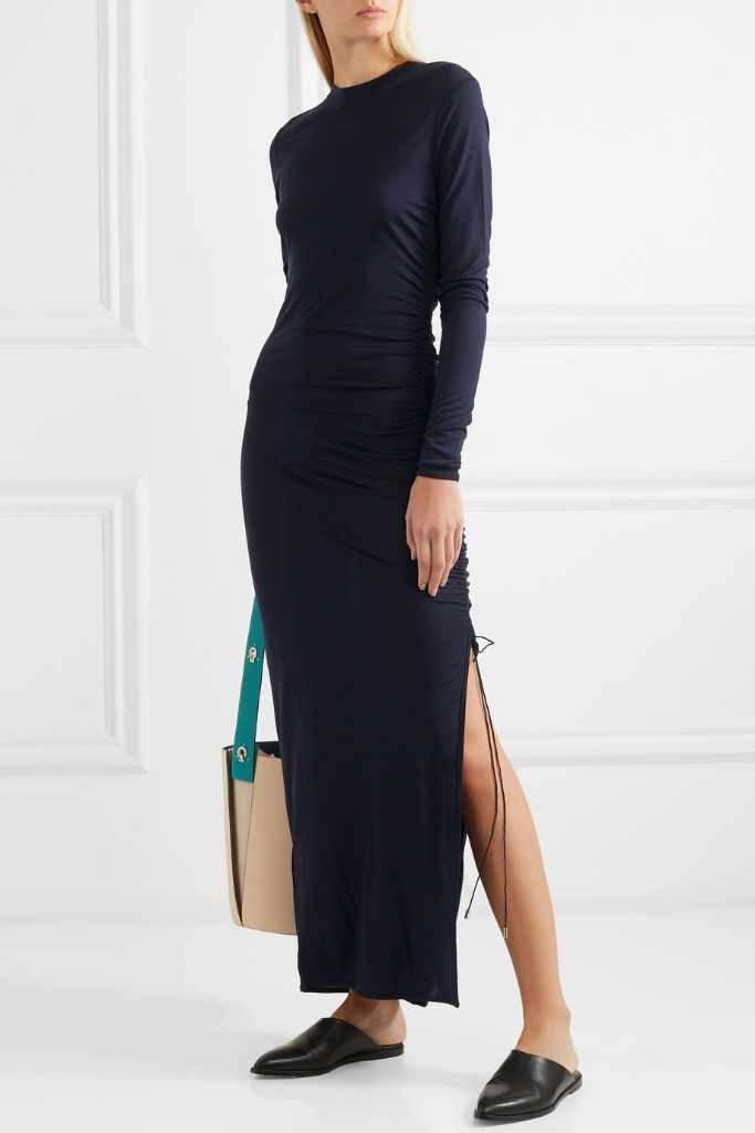 Ninety Percent Ruched Jersey Maxi Dress