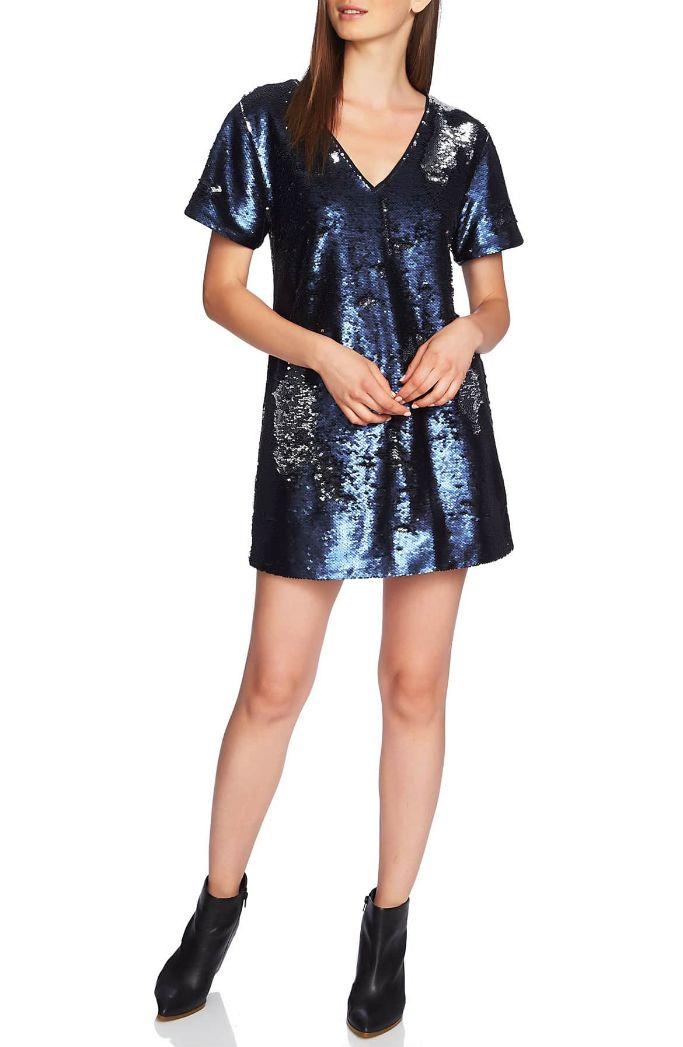 1 State Sequin Minidress