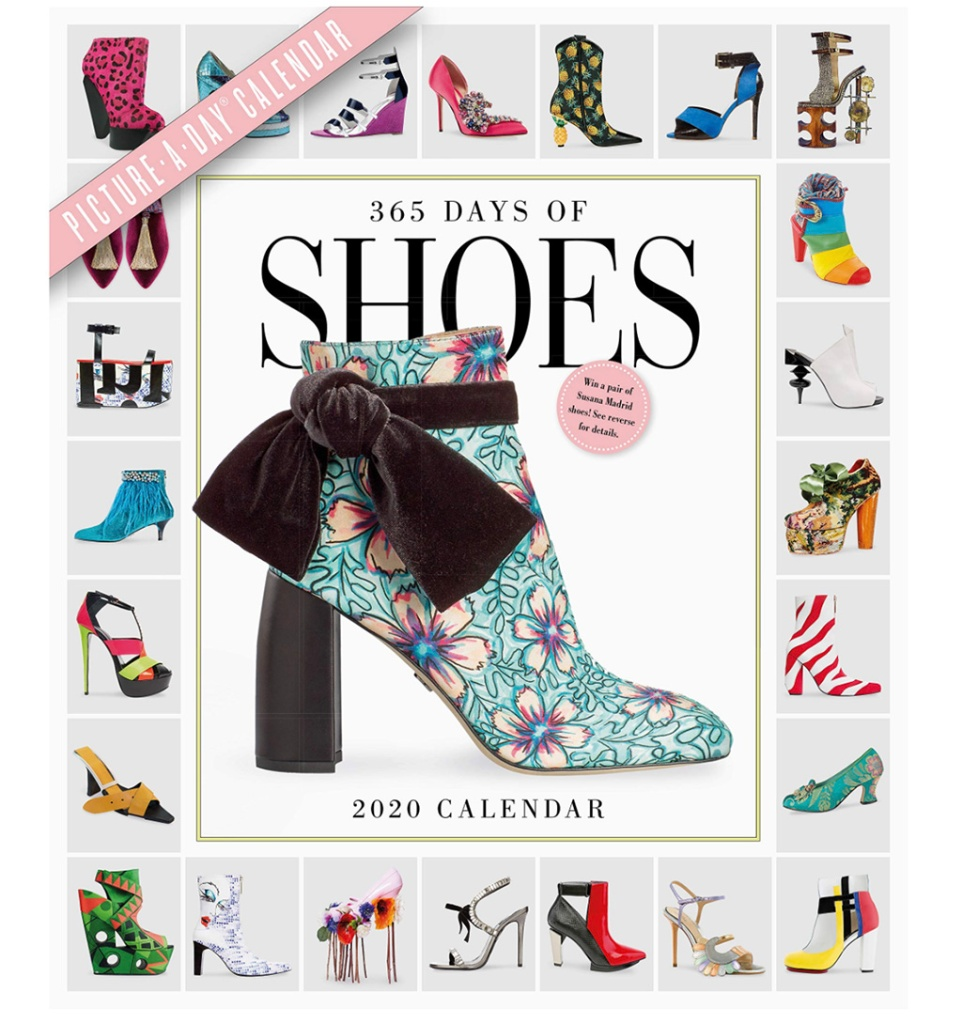 2019 shoe calendar, gifts for shoe lovers, 2019 holiday gift guide