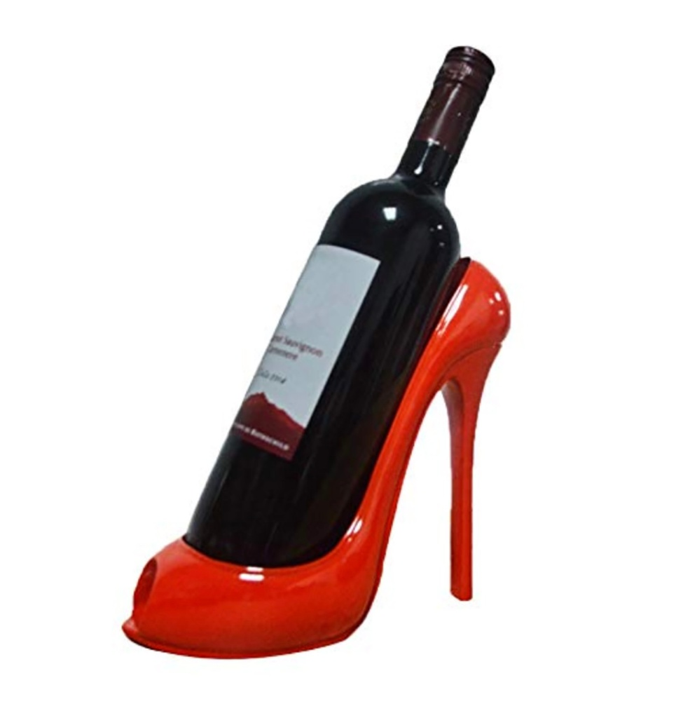 shoe shaped wine rack, gifts for shoe lovers, holiday 2019 gift guide