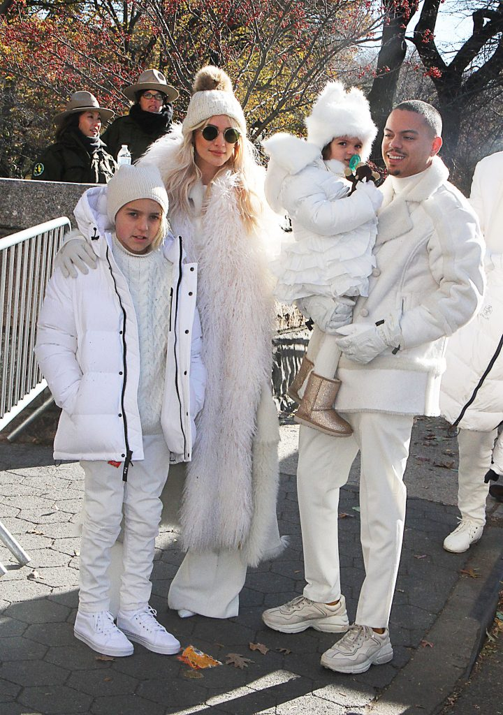 Bronx Wentz, Ashlee Simpson, Jagger Snow Ross. Evan Ross,Macy's Thanksgiving Day Parade, New York, USA - 22 Nov 2018