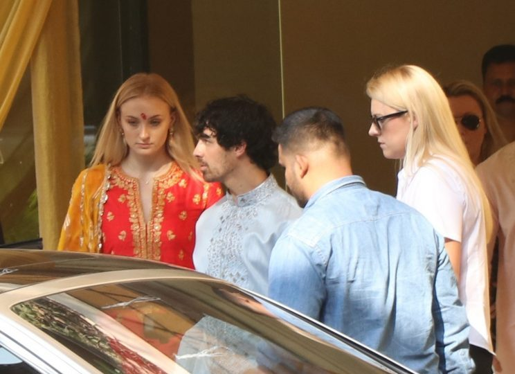 Sophie Turner And Joe Jonas Arrive Leave Hotel In India Ahead Of Nick Jonas And Priyanka Chopra's WeddingPictured: Sophie Turner,Joe JonasRef: SPL5045350 281118 NON-EXCLUSIVEPicture by: SplashNews.comSplash News and PicturesLos Angeles: 310-821-2666New York: 212-619-2666London: 0207 644 7656Milan: 02 4399 8577photodesk@splashnews.comWorld Rights