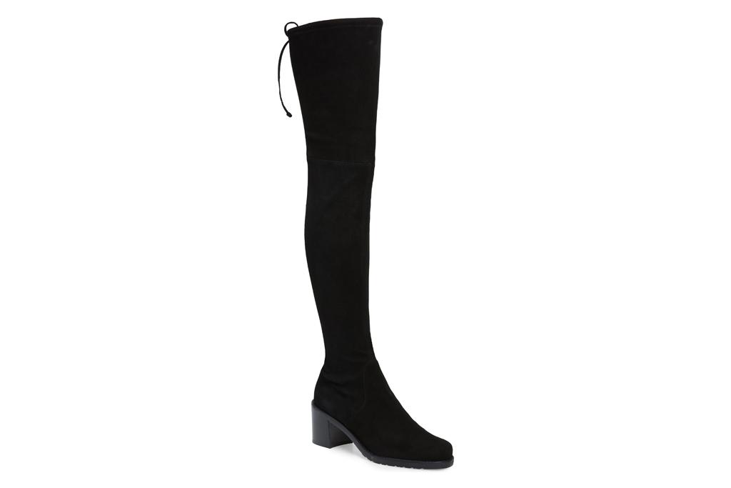 stuart weitzman, over the knee boot, black