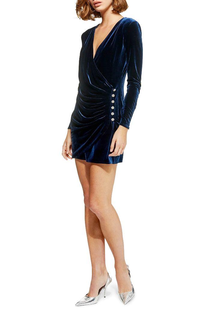 TopShop Velvet Drape Dress