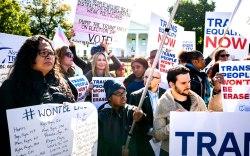 white house, protest, transgender rights