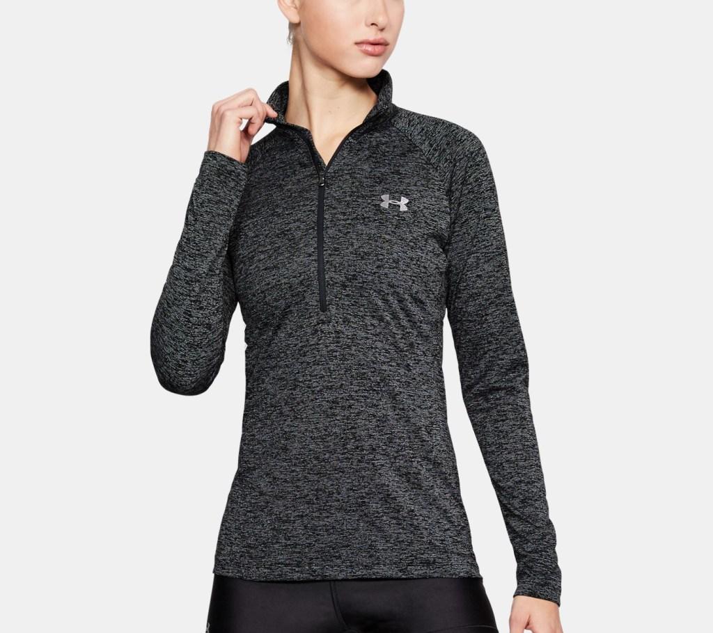 Under ArmourTech Twist Half Zip Long Sleeve Shirt