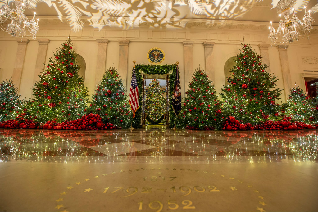 white house christmas tree, decorations