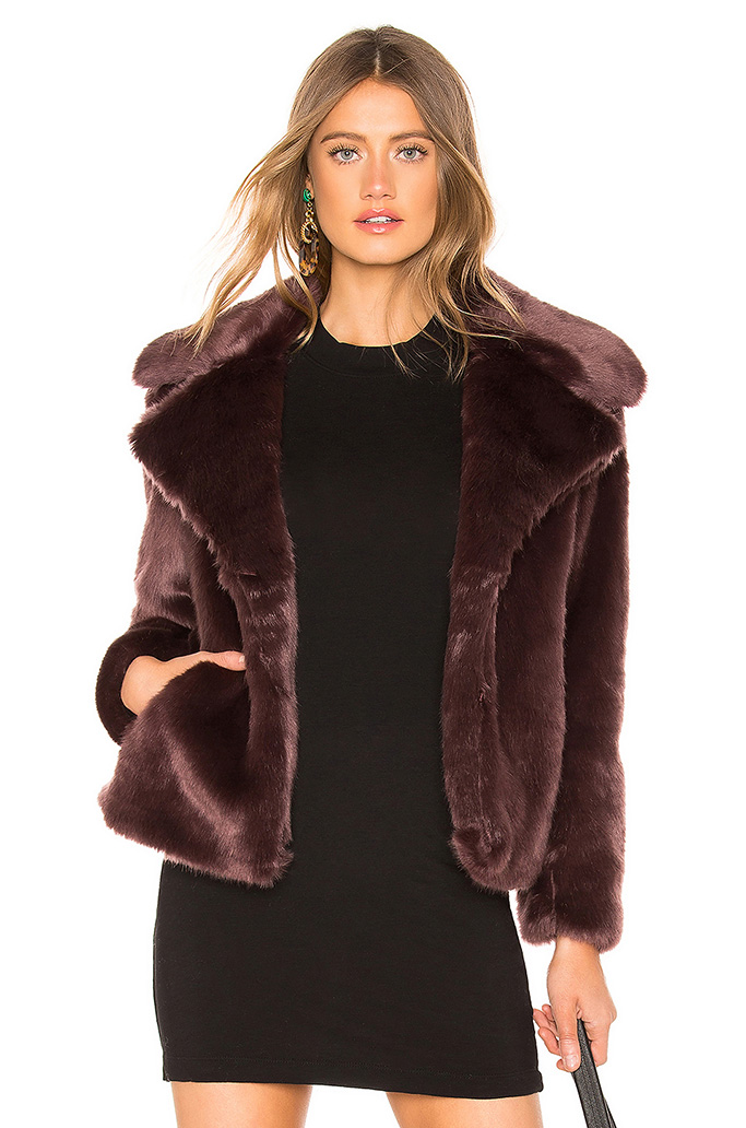 1. State faux Fur Mink Jacket