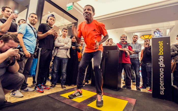 Adidas Boost campaign in Dubai 2015 with Olympian Haile Gebreselassie