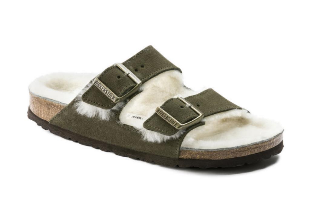 Birkenstock-arizona-shearling-sandal-top-10-shoe-trends-2018
