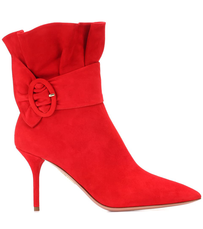 AquazzuraPalace 85 Suede Ankle Boots
