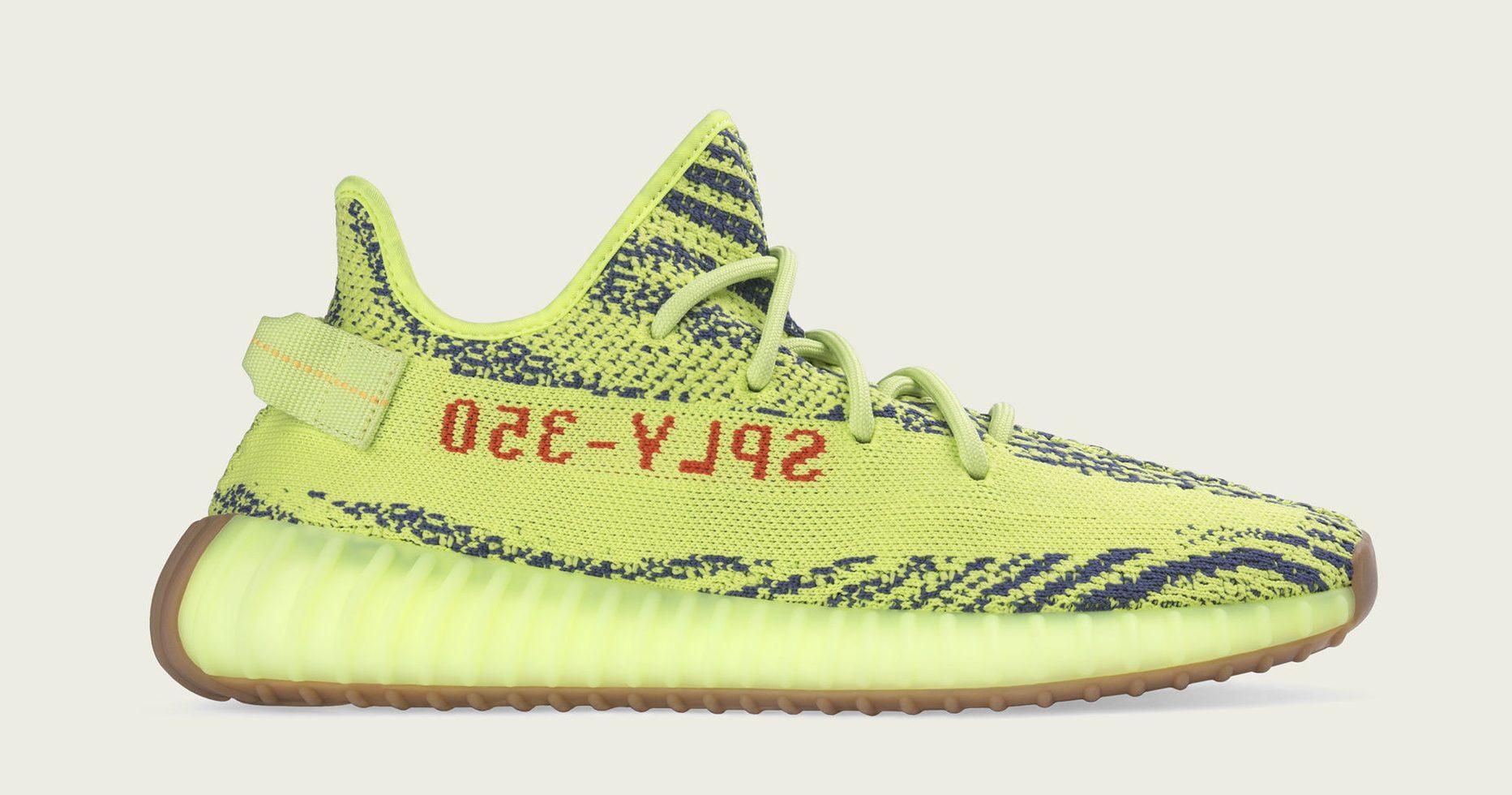 neon yeezy shoes