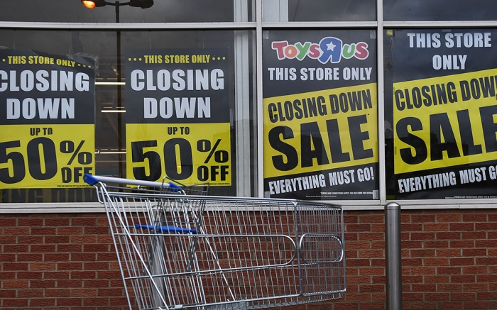 A closing Toys 'R' Us store