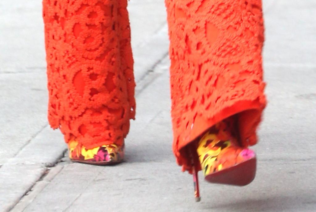 gigi hadid, Christian Louboutin So Kate Booty Spring Summer 2019 Multicolor graffiti ankle boot