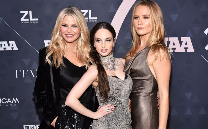 Christie Brinkley, Alexa Ray Joel and Sailor Brinkley-Cook, FNAAs, red carpet, 2018, awards
