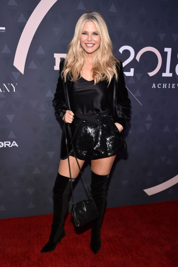 Christie Brinkley, red carpet, fnaas, celebrity style