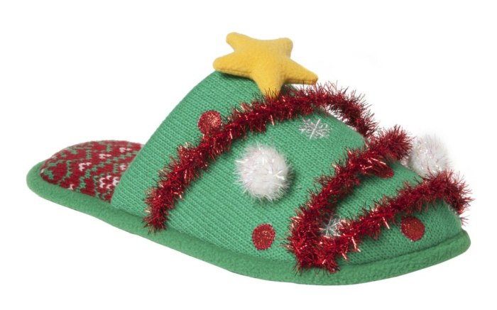 Dearfoams Ugly Christmas Sweater Slipper