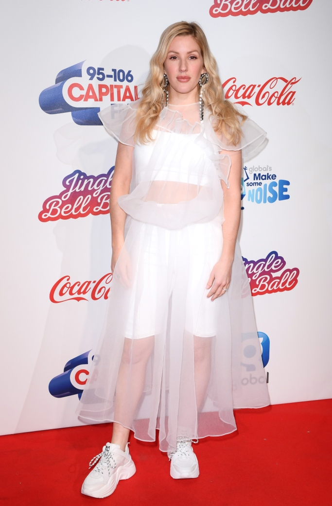 Ellie Goulding jingle bell ball red carpet