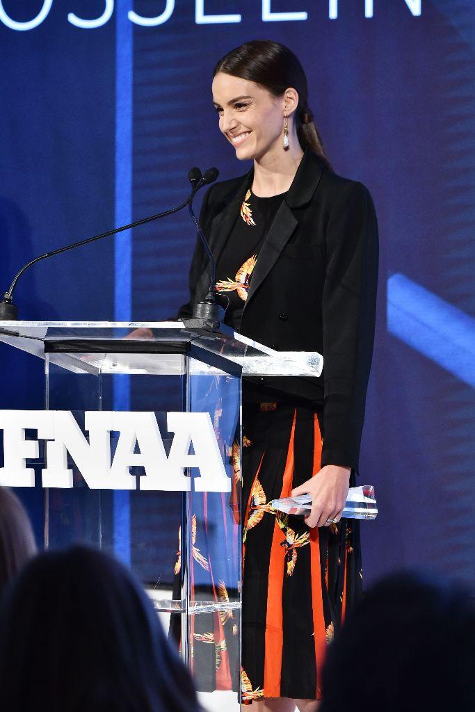 Chloe Gosselin takes home the Vivian Infantino Emerging Talent Award, 2018 fnaas
