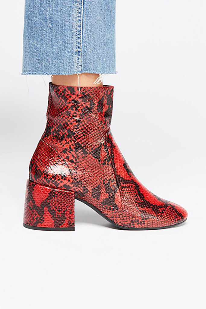 snakeskin boots, free people