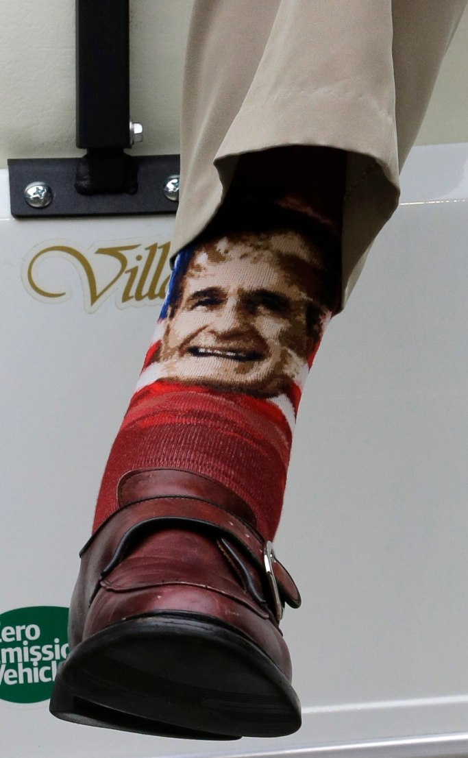 george hw bush face socks
