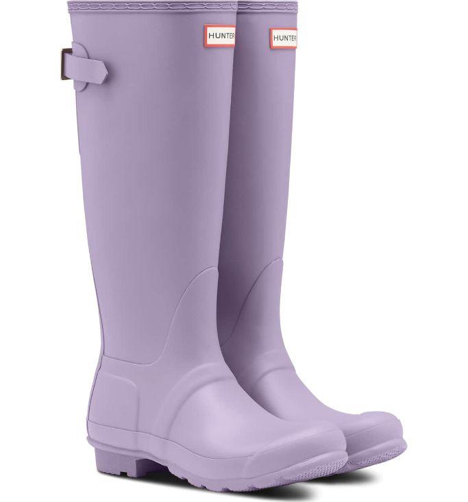 HunterOriginal Tall Adjustable Back Waterproof Rain Boot